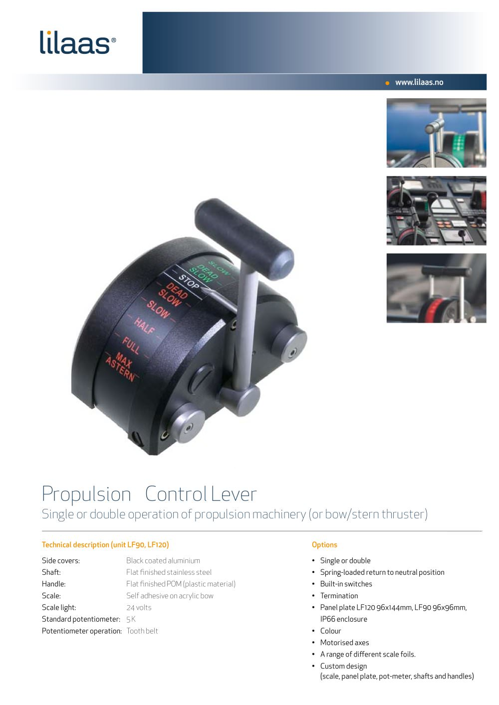 engine control handle for ships - Lilaas - PDF Catalogues ...