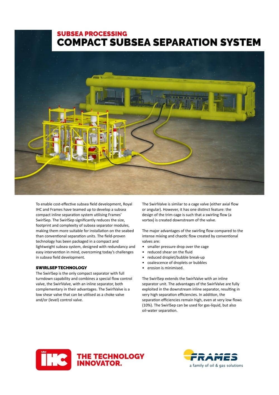 Subsea Seperator System - Royal IHC - PDF Catalogues | Documentation ...