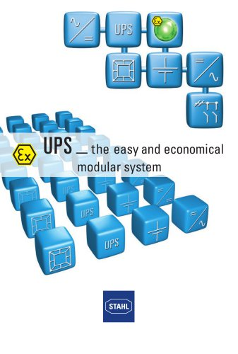 UPS   the easy and economical modular system