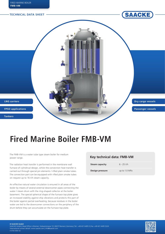 Fired Marine Boiler FMB-VM - SAACKE - PDF Catalogues | Documentation ...