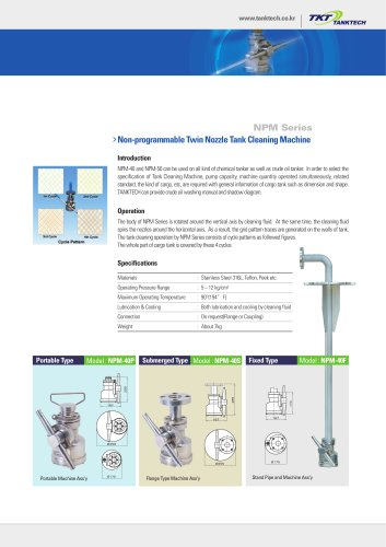 NPM Series - TANKTECH - PDF Catalogs | Documentation