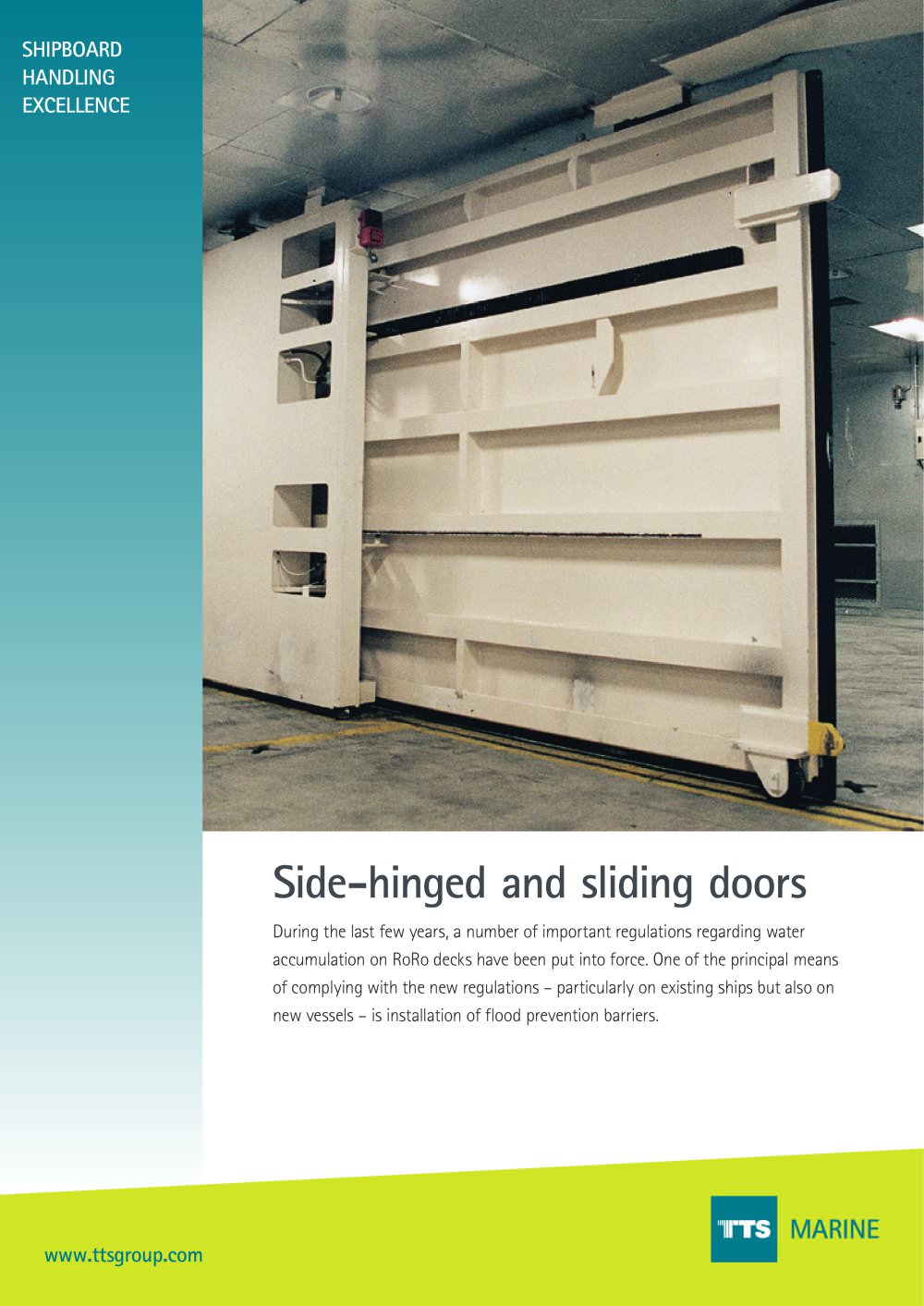 Side Hinged And Sliding Door Tts Marine Pdf Catalogues