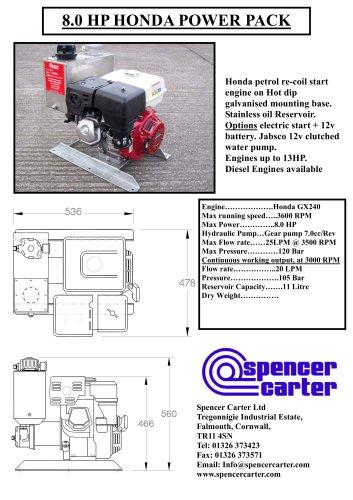 8 0 HP HONDA POWER PACK - Spencer Carter - PDF Catalogs