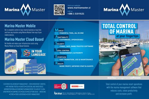 TOTAL CONTROL OF MARINA at your fingertips