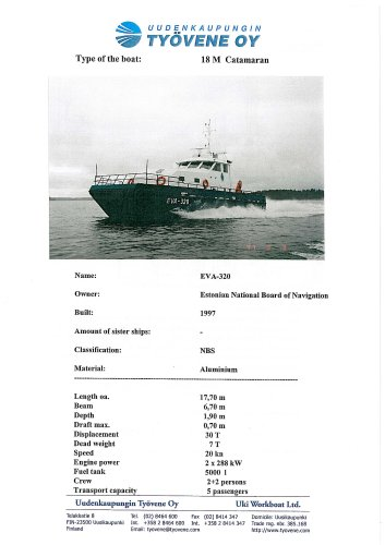 18m EVA-320 catamaran