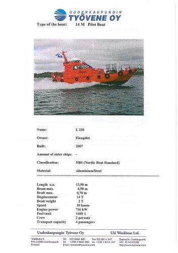 Fast pilot boat L 236