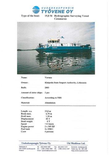 Varuna198m catamaran