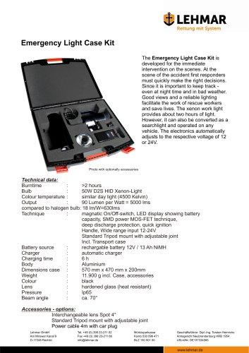 Emergency Light Case Kit