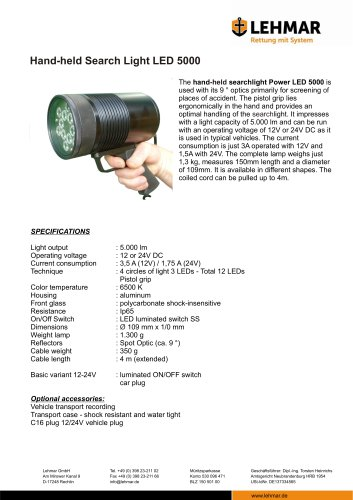 Hand-held Search Light LED 5000