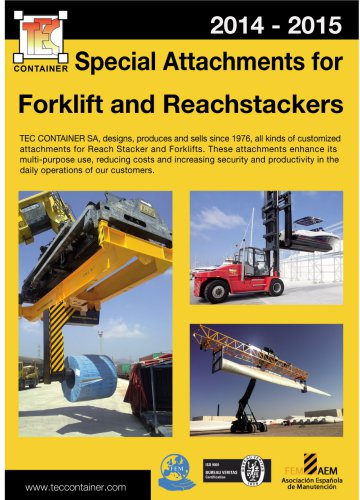Special attacments for Forklift and Reacstackers