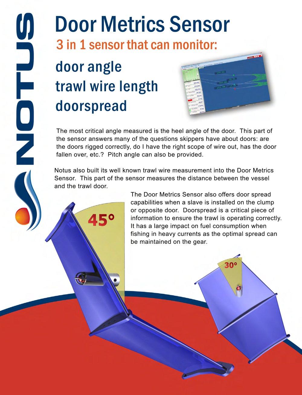 Trawl Door Metrics Sensors - 1 / 2 Pages  sc 1 st  Catalogues Nauticexpo & Trawl Door Metrics Sensors - Notus Electronics - PDF Catalogues ... pezcame.com