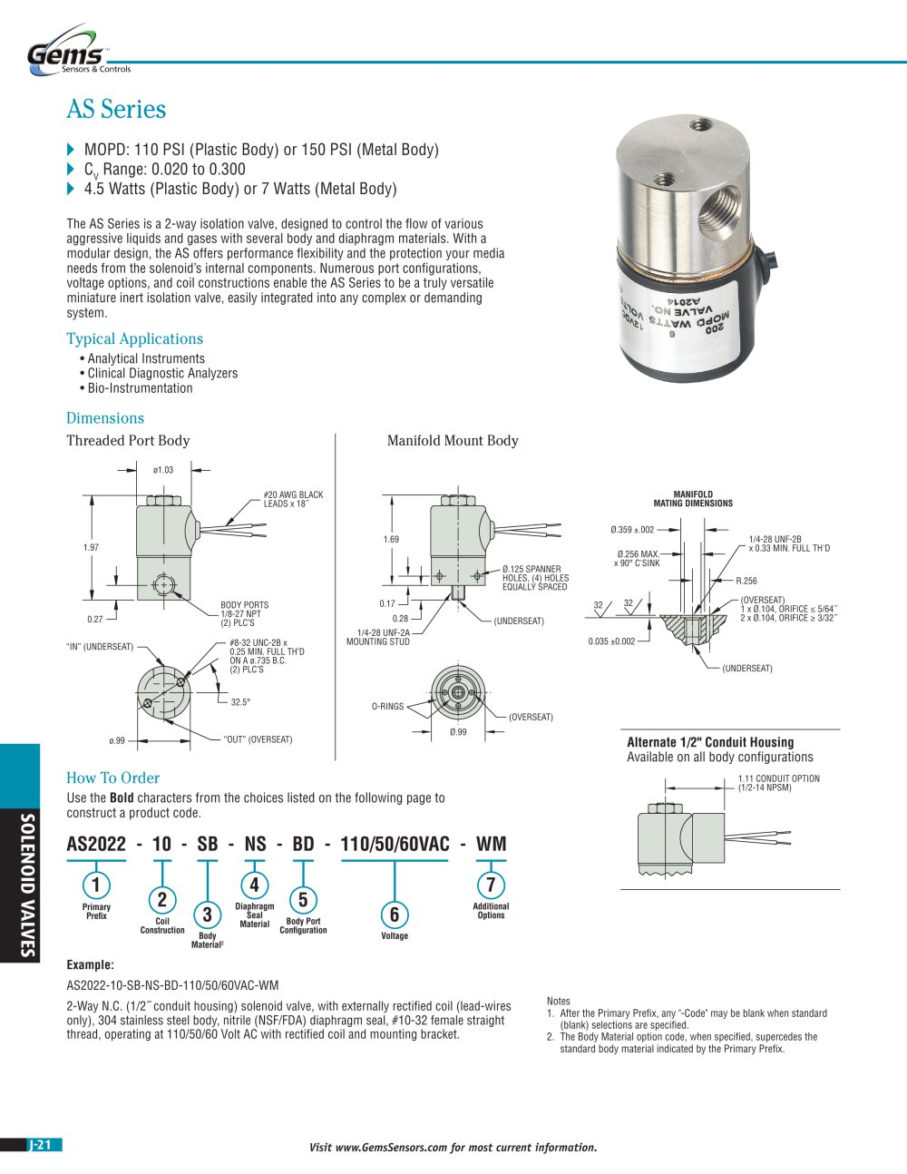 Gem Sensors Wiring Diagrams Diagram Schematics Solenoid Valve As Series Gems Pdf Catalogues Parts