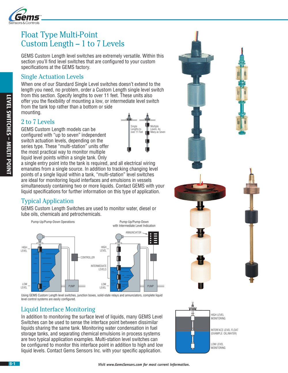 Level Switches Multi Point Gems Sensors Pdf Catalogues Solidstaterelaysanpdf 1 26 Pages