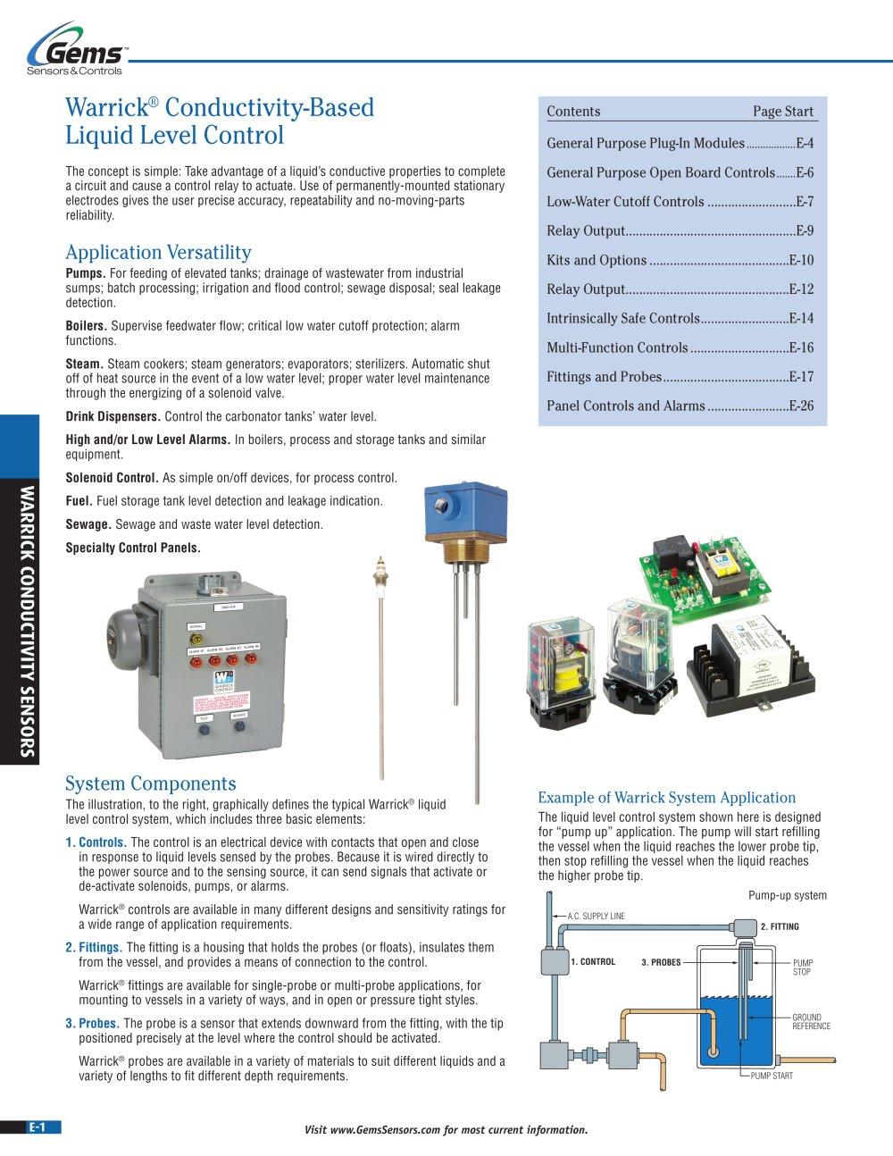 Conductivity Sensor Wiring Diagram 34 Images Water Level Warrick Sensors 44325 1b Gems Pdf Catalogues Probe At