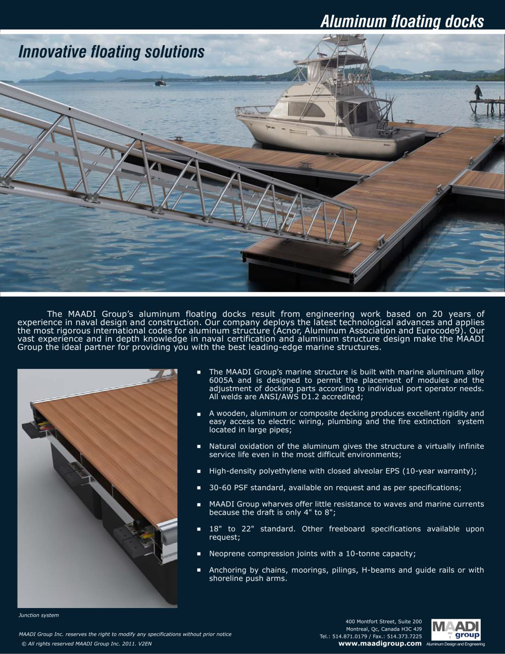 Floating Docks Maadi Group Inc Pdf Catalogues Documentation Electrical Wiring Joints 1 Pages