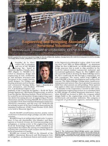 LMA aluminum bridge structures
