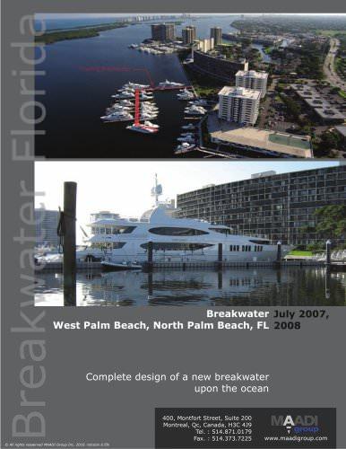 Sample floating breakwater