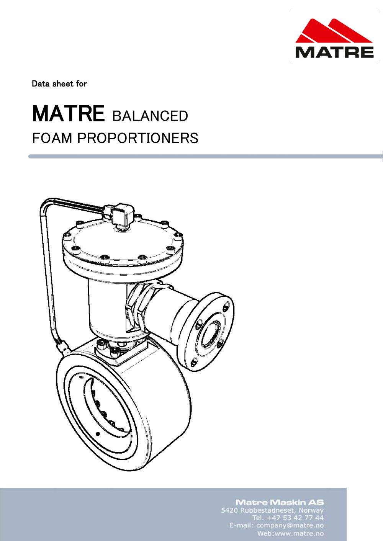matre balanced proportioner matre maskin as pdf catalogues