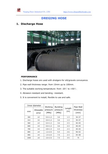 dredging hose catalogue