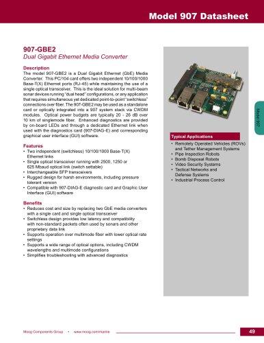 Model 907 Datasheet - Moog Components Group - PDF Catalogs