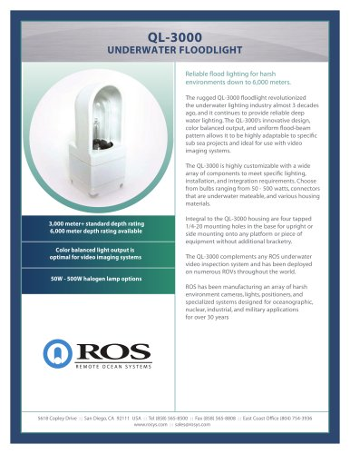 QL-3000 Underwater Floodlight - Remote Ocean System - PDF