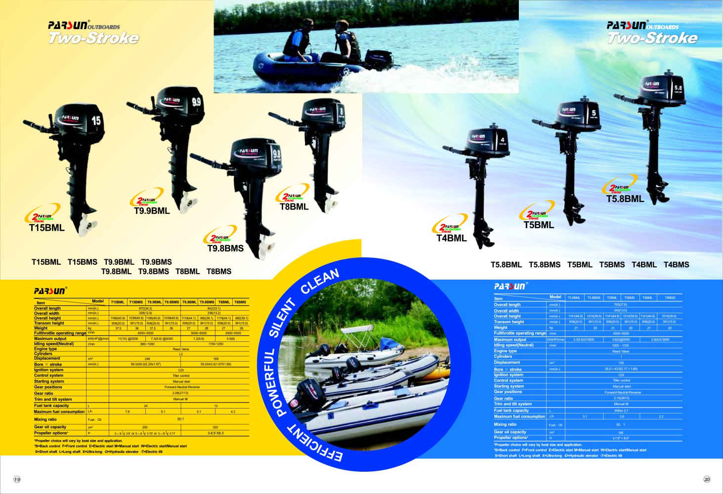 PARSUN 4-stroke outboard motor 2.6-6hp - 1 / 2 Pages