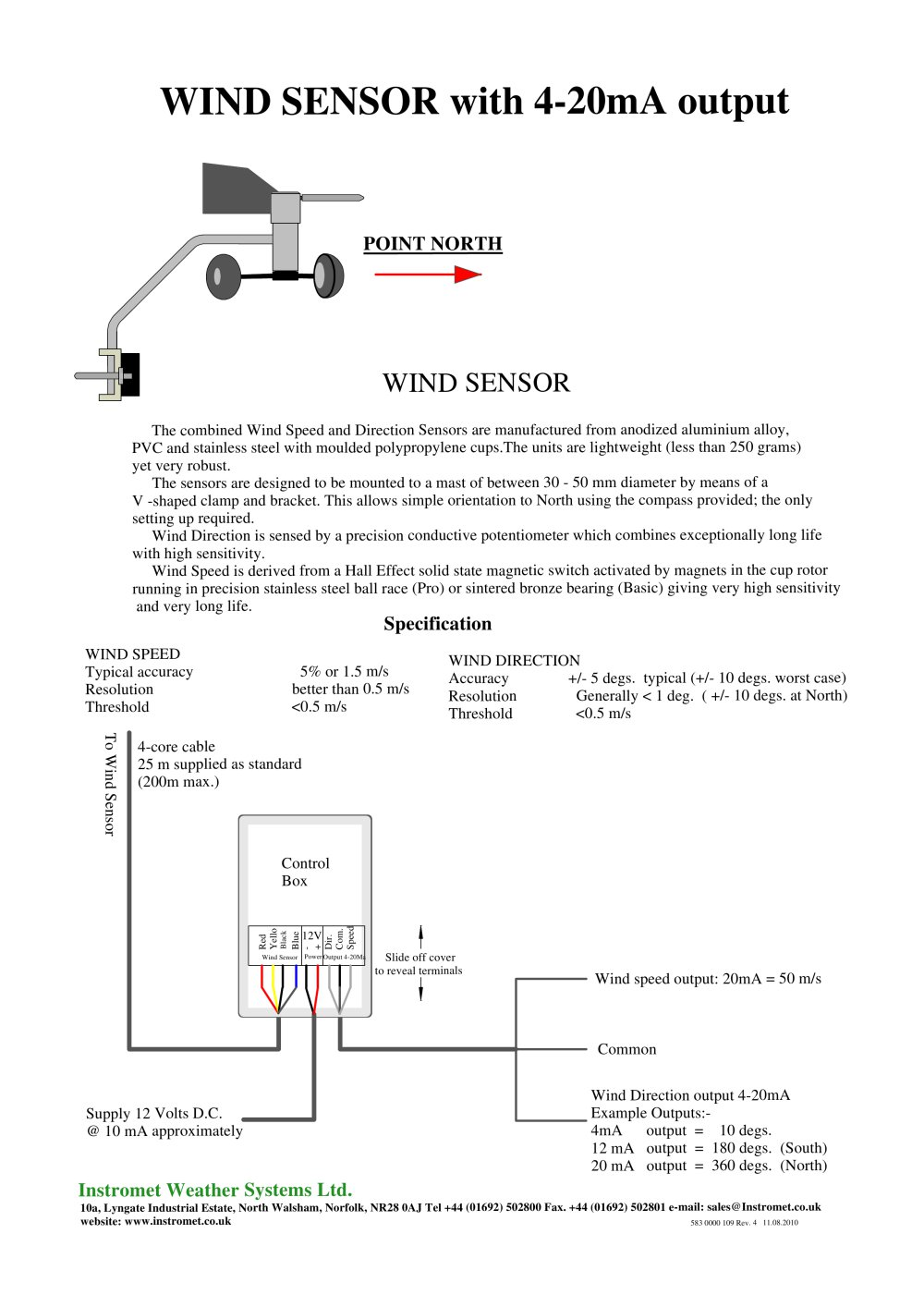 WIND SENSOR with 4-20mA output - 1 / 1 Pages
