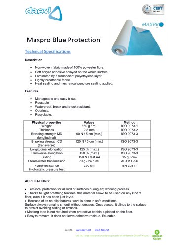 Temporary protection MAXPRO