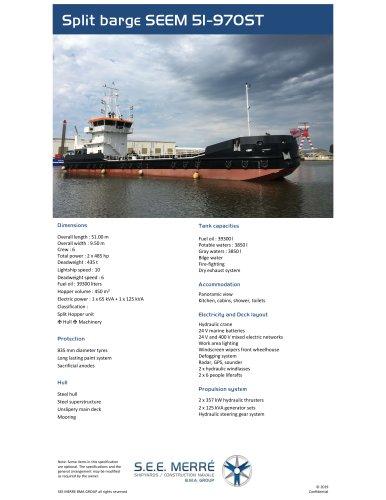Split barge SEEM 51-970ST