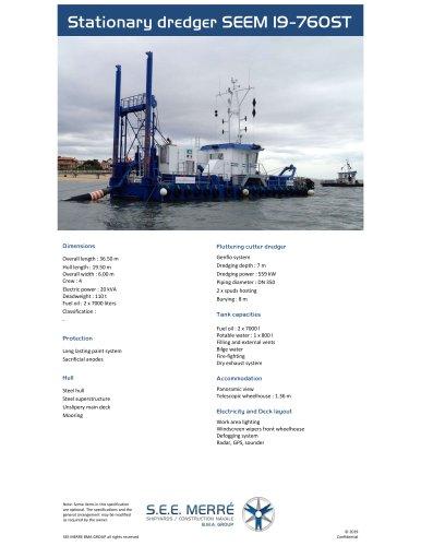 Stationary dredger SEEM 19-760ST