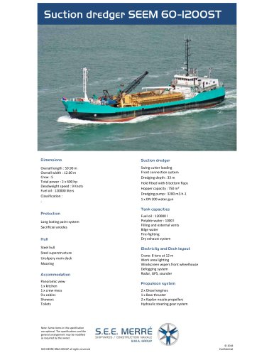 Suction dredger SEEM 60-1200ST