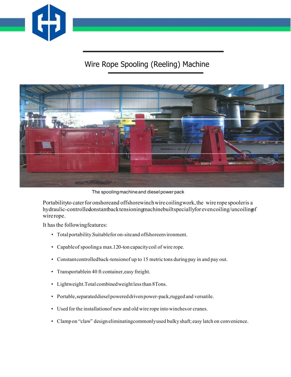 Cataloge of Spooling Machine - Chongqing Guanheng Technology ...