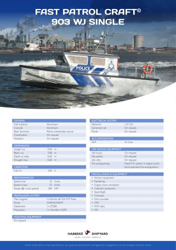 Fast Patrol Craft 903 WJ Single