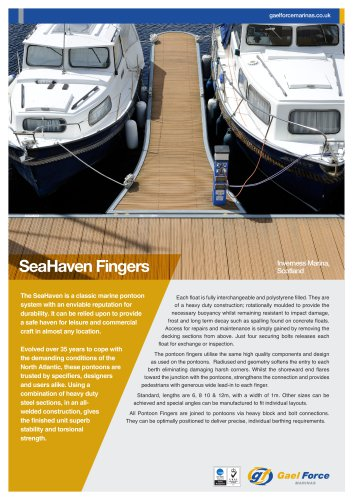 Seahaven Pontoon Fingers
