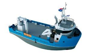 Barcos de apoio e barcos de trabalho