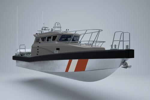 barco-patrulha / com motor de centro / em alumínio