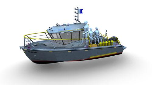 barco-patrulha / barco salva-vidas / com motor de popa