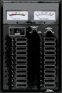 painel de comando para barco / para circuito elétrico