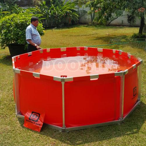 tanque para água / de armazenamento temporário / com moldura / para sistema de combate a incêndio
