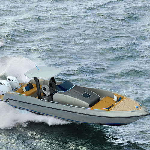 lancha Express Cruiser com motor de popa / a diesel / bimotor / com casco planante