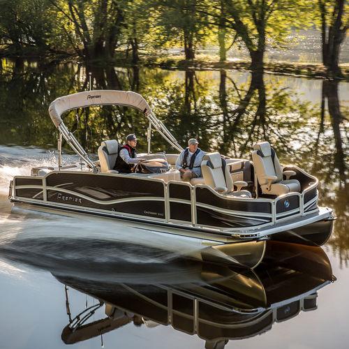 pontoon boat com motor de popa / de pesca esportiva / máx. 12 pessoas / máx. 11 pessoas