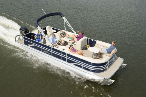 pontoon boat com motor de popa / de pesca esportiva / máx. 12 pessoas