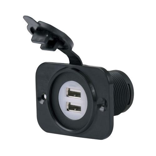 carregador USB / náutico / de duas portas