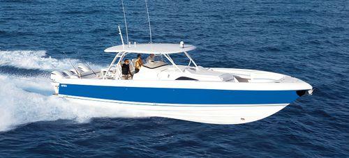 lancha Express Cruiser com motor de centro / de pesca esportiva