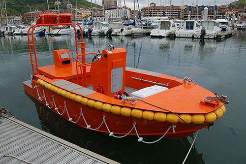 barco salva-vidas / com motor de centro hidrojato / a diesel
