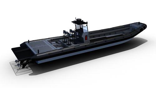 barco utilitário / com motor de centro / a diesel / barco inflável semirrígido