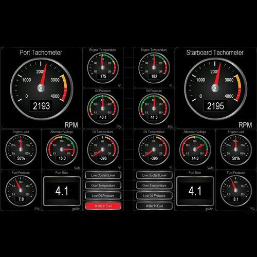 software de monitoramento / de navegação / para barco