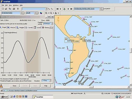 software de previsão das marés / para barco