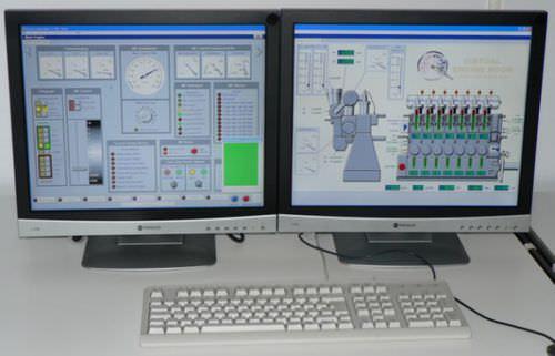 simulador para sala de máquinas