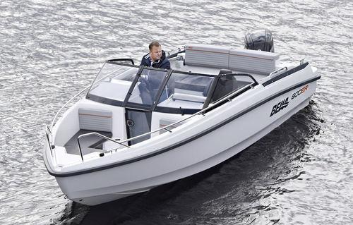 lancha de proa aberta com motor de popa / bowrider / com console dupla / para esqui aquático